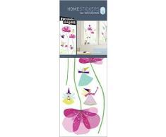 Nouvelles Images Adesivi elettrostatici decorativi per vetri finestre, per bambini, con fate e fiori