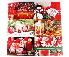 Biglietti di Natale con motivi natalizi, 50 pezzi Biglietti d' auguri Natale 22 – 7650