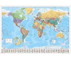 AMBROSIANA GB eye LTD, Mappa del Mondo, Politico, Maxi Poster, 61 x 91,5 cm
