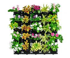 """'UPP® vasi per piante """"Muro del Giardino con Sistema brevettato sistema di irrigazione – può essere ampliato – Novità. Giardino verticale per creare la vostra bepflanzung OB interni o esterni/Muro Parete/Erbe/Giardinaggio"""