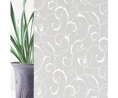 Rabbitgoo Pellicola Smerigliata Per Finestre Vetri-Fiori Decorativo, Autoadesive,Anti-UV90CMx200CM