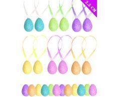24 X Piccolo Paillettes Lavori Creativi Uova Di Pasqua - Da Parete Decorazioni Per Cuffie / Cappelli