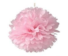 Pixnor 10 confezione 9,8 pollici carta velina Pom Pom fiore palla pom-poms - decorazione per feste matrimonio feste decorazioni feste di compleanno e docce bambino