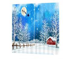 2x Natale Temporizzato Tende Per Porte Finestre Tende Per La Decorazione Natalizia - #10, 150x166cm