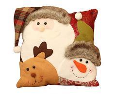 cuscini natale federe - Decorazione da casa dolce cuscino modello pupazzo di neve festive per il Ringraziamento di Natale