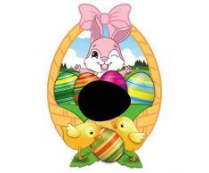 CJMING Giocattolo per Bambini, Giocattolo Dipinto, Kit per Dipingere Le Uova di Pasqua, Strumento per Dipingere Uova Colorate con Pennarelli a 8 Colori, Regali per Feste di Pasqua per Bambini
