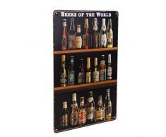 WINOMO Targa Metallo Vintage birra Decorazione Murali da Parete per bar caffè 20x30cm
