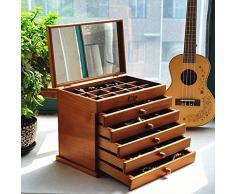 Cosy-L Portagioie Scatole Per Gioielli Custodia Box Scatola Anello Rettangolare Fabulous Regalo Delle Donne Organizzatore Beauty Case Con Specchio x768 , A , long 32* wide 20.5* high 25