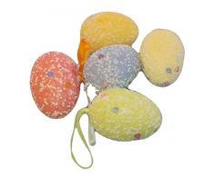 Decorazioni Pasquali uova di pasqua colorate, 5 Pezzi Piccoli