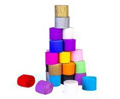 FVCENT 30 Rotoli di Carta crespa Stelle filanti Stelle filanti Decorazioni di Carta Colori Assortiti per Feste di Compleanno Concerti di Nozze e Vari Festival