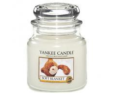 Yankee candle 1173564E Soft Blanket Candele in Giara Media, Vetro, Bianco, 10.2x9.8x13.2 cm