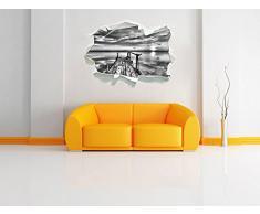 Monocrome, Steg con gabbiani al tramonto Papier aspect 3D, la taille de la vignette mur ou de porte: 92x62cm, stickers muraux, sticker mural, décoration murale