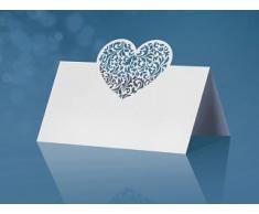 10 segnaposto ritagliati al laser, a forma di cuore, ideali per matrimoni