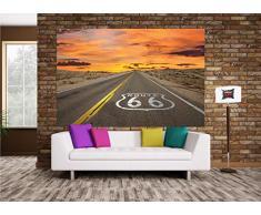 Route 66 FOTOMURALE- American highway tappezzeria da parete - poster XXL decorazione da parete by GREAT ART (210 x 140 cm