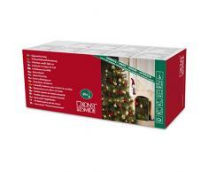 Konstsmide 2336-550 - Luci per albero di Natale, effetto candele di cera, 40 luci, 230 V, per interni, cavo verde, colore: rosso