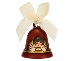 THUN - Addobbo per Albero di Natale Campanella con Angelo Limited Edition 2020 - Decorazioni Natale Casa - Versione Beige - Ceramica - 7 x 7 x 8 h cm