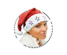 Guirma Cappello di Babbo Natale con luci, Colore Rosso E Bianco, Taglia Unica capluci