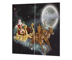 2x Natale Temporizzato Tende Per Porte Finestre Tende Per La Decorazione Natalizia - #31, 150x166cm
