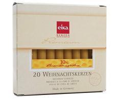 Eika Candele con 10% di cera d'api per albero di Natale, confezione da 20 pezzi Fatto in Germania