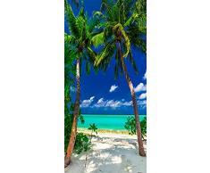 murando Autoadesiva carta da parati per porte XL 80x210 cm Pennelo per porte Poster Adesivo Quadro Design Estate Natura Palma Mare c-B-0230-a-d
