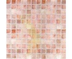 Piastrelle autoadesive effetto mattonella - 30,05 x 30,05 x 0,13 cm - cf.1mq - mosaico rosso/rosa