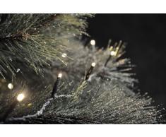 Konstsmide 3656-100 - Set luci per albero di Natale composto da luci da 100 diodi a luce bianca calda, trasformatore, distributore per 4 catene di luci, fino a 44,6 m, trasformatore esterno da 24 V, colore cavo: nero
