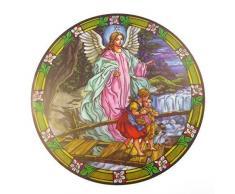 """Acchiappasole a forma di angelo custode in vetro colorato-Adesivo per finestra riutilizzabile sun catcher, confezione da 6 """""""