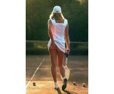 1art1 Belle Ragazze - Ragazza Tennis, Slip off Poster Stampa (91 x 61cm)