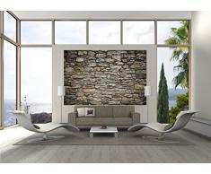 GREAT ART Spiaggia con imbarcazione, foto da parete, tappezzeria da parete, motivo: Paradiso, isola dell'Asia, dimensioni: XXL, decorazione da parete