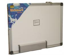 Idena 568024 - Lavagna magnetica da parete, cornice in alluminio, alloggiamento pennarello incluso, circa 40 x 30 cm, bianco