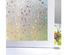 Zindoo 3D Ultra-sottile anti-UV pellicola a colori protezione della privacy doccia a prova di luce finestra vetro antiaderente decorazione per ufficio casa 44.5x200