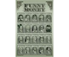 1art1 49096 Fun - Funny Money - Dollaro Fiori Poster 91 x 61 cm