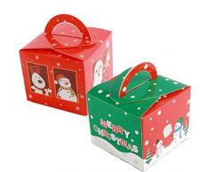 Gsyamh Scatola di Caramelle Babbo Natale Scatola della Vigilia di Natale Festa Confezione Regalo Scatola Candy Gadget Natalizi Scatole Regalo Adatto per Caricare Biscotti, Mele, Cioccolatini, ECC