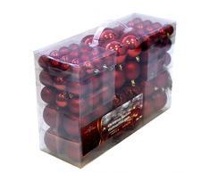 Froomer Valigia 100 Pezzi Palline di Natale Rosse, Rosso, 100x