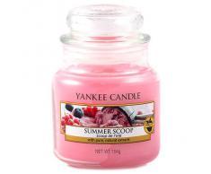 Yankee Candle 1257048E, Candela profumata in barattolo, piccola, Rosa (Rosa)