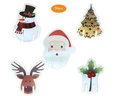 Segnaposto natalizio con nome, in vetro, segnaposto, decorazione per Natale, 50 pezzi