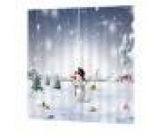 2x Natale Temporizzato Tende Per Porte Finestre Tende Per La Decorazione Natalizia - #23, 150x166cm