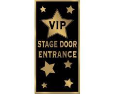 Beistle 57109 - Decorazione per porta, con scritta VIP Stage Door Entrance, 76,2 x 152,4 cm
