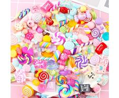 100pcs misti cute snack food Candy dolci fiore scrapbooking Kawaii resina Flatback cabochon decorazione a mano di fascino Pasqua making Supplies per scrapbooking fai da te Kit Craft Supplies, a