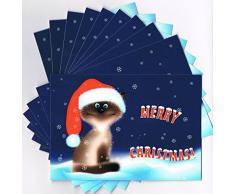 """Edition Colibri – Set di biglietti natalizi (12 pezzi) """"Dolci di Natale gatto – Gattino Gruss biglietti per Natale: ideale per amici o famiglie con bambini"""