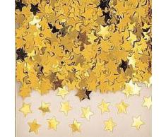 Confetti - Coriandoli a forma di stella, colore: oro, 14 g, 1 confezione