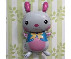 BESTOYARD 6 pezzi Decorazioni coniglietto di Pasqua Palloncini in lamina di alluminio Bomboniere pasquali 94x50cm