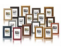 Set Regalo - Set di pezzi 10 Solide Cornici in Legno per Foto - 10x15 cm. I vari colori e stili, con Plexi. Il prezzo all'ingrosso per gli stock rimanenti!