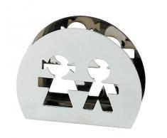 A di Alessi - AKK51 - Girotondo portatovaglioli di carta in acciaio inossidabile 18/10 lucido.