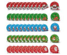 THE TWIDDLERS 50 Pinball a Tema Natalizi - 5 Modelli Diversi - Perfetti Come regalini per Calze, pentolacce e Sacchetti da Bambini Bomboniere - Giochi Natale Festa