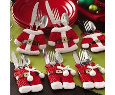 Hilai portaposate tuta 6pcs Babbo Natale Natale decorazione della tavola, segnaposto regalo