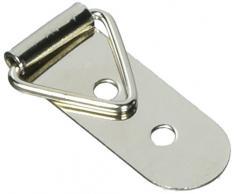 Gancetti Triangolari In Metallo Con Doppio Foro E Anello A D Per Appendere Quadri E Cornici,50 Pezzi