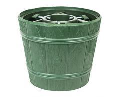 Kit vaso supporto porta albero di natale Planet, diametro 34,5 cm, colore: verde
