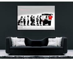 "'Kunstdruck24-net - 100 x 70 cm K. Poster. Tela già su telaio. Pop Art dipinto stampe artistiche da parete, immagini, immagini per decorazione - decorazione/Top 100 ""Banksy Modern immagini"