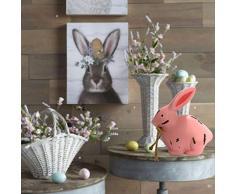 RONSHIN, Coniglietto Pasquale in Legno, Decorazione per casa, Ufficio, caffè, Decorazione per la casa